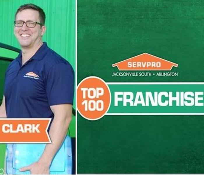 General Top 100 Franchises in the Nation Award is Bestowed Upon SERVPRO of Jacksonville South & Arlington